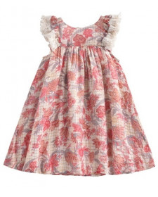 GIRL PINK FLOWERS JANICE DRESS LOUISE MISHA
