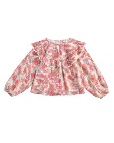 GIRL YURI PINK FLOWERS BLOUSE LOUISE MISHA