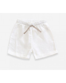 BOY LINEN WHITE SHORTS PLAY UP