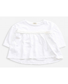 CAMISETA DE NIÑA PLAY UP MANGA LARGA BLANCA