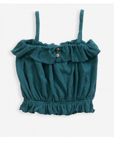 BLUSA DE TIRANTES DE NIÑA PLAY UP VERDE