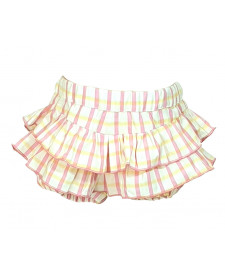 GIRL PINK STRIPES SHORT TUL Y POMPON