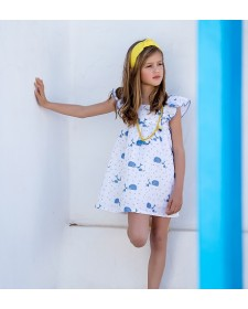 GIRL WHALES DRESS KID´S CHOCOLATE