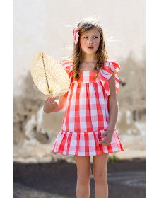 GIRL CORAL DRESS KIDS CHOCOLATE