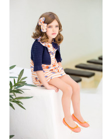 GIRL NAVY CARDIGAN KID´S CHOCOLATE