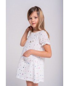 GIRLS STARS DRESS TUL Y POMPON