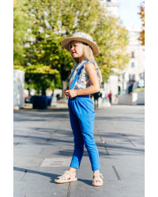 GIRL BLUE TROUSERS TUL Y POMPON