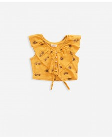 GIRLS MUSTARD T-SHIRT PLAY UP