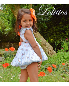 GIRLS DRESS AND BLOOMERS LOLITTOS JARDIN