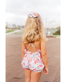 GIRL FLOWERS SHORTS TUL Y POMPON