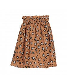 GIRL LONG SKIRT ANIMAL PRINT PIUPIUCHICK