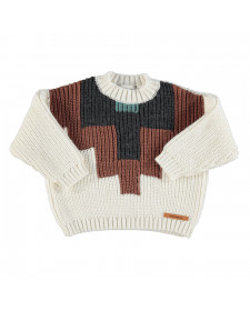GIRL KNITTED SWEATER MULTICOLOR PIUPIUCHICK