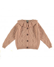 GIRL PINK KNITTED CARDIGAN TOCOTO
