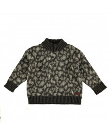 GIRL ANIMAL PRINT KNITTED SWEATER TOCOTO