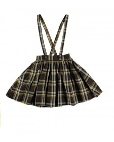 GIRL TARTAN PLAID SKIRT WITH BRACES TOCOTÓ