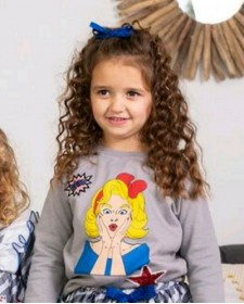 GIRLS SWEATSHIRT MON PETIT BOMBON DOLL