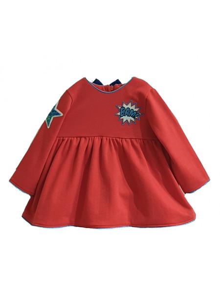 BABY GIRL RED DRESS MON PETIT