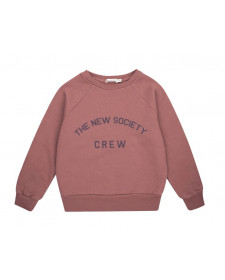 SUDADERA UNISEX THE NEW SOCIETY MARRON