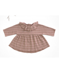 T-shirt in organic cotton with frill PLAY UP