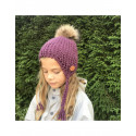 HAT IN WOOL WITH FUR AVIATOR VARIOUS COLOURS MYWOOL