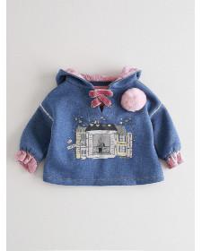 BABY GIRL BLUE SWEATSHIRT NANOS