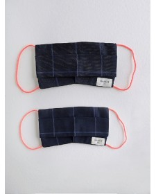 FACE MASK NAVY STRIPES