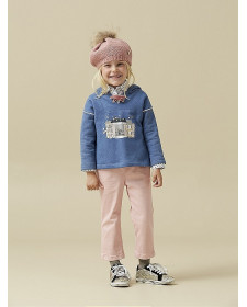 GIRLS BLUE SWEATSHIRT NANOS