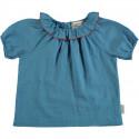 BABY SHIRT W/ROUND FRINGE COLLAR BLUE PIUPIUCHICK