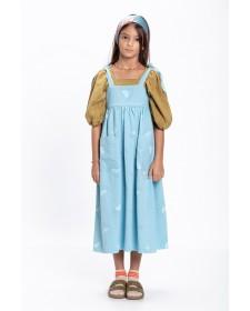 GIRL LONG DRESS W/POCKETS LIGHT BLUE PIUPIUCHICK