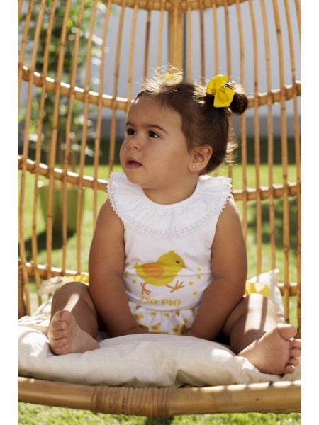 BABY GIRLS T-SHIRT AND BLOOMERS VAGALUZ