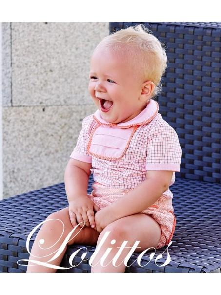 rana con camisa lolittos borlas rosa cuarzo bebe